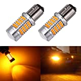 Minzhi 2PCS 1157 54SMD Car Turn Signals Automobile LED Yellow Light Bulb Car Direction Indicator Lamps Set