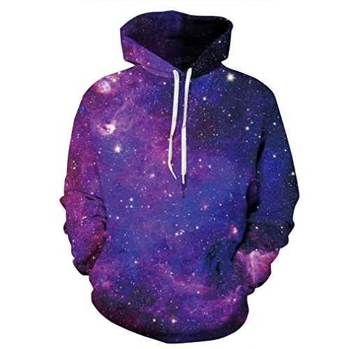 SAYM Unisex Galaxy Pockets 3D Pullover Hoodie Hooded Sweatshirts Hoodies NO38 XL by SAYM