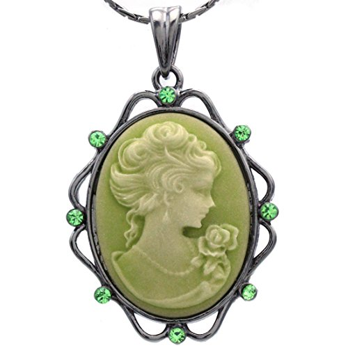 Soulbreezecollection Cameo Pendant Necklace Charm Women Fashion Jewelry -