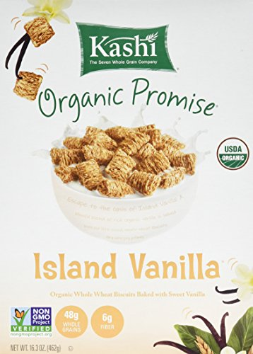 Kashi Organic Cereal, Island Vanilla, 16.3-Ounce Boxes (Pack of 4) (High Kashi Cereal Fiber Cereal)