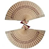 Connoworld Classical Wooden Hollow Pattern Folding Fan Chinese Traditional Handheld Fan Wedding Party Favour