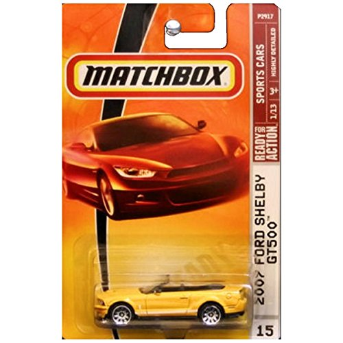 2007 Ford Shelby Gt500 (Matchbox Sports Cars 2007 Ford Mustang Shelby GT500 GT-500 Convertible Grabber Orange #15)