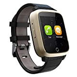 TKSTAR 3G WiFi Bluetooth Smart Watch, Android 5.1 Smart Watch with 1GB RAM &8GB ROM, Health Wrist Bracelet Heart Rate Monitor (3G,WiFi--Gold, 1.54)