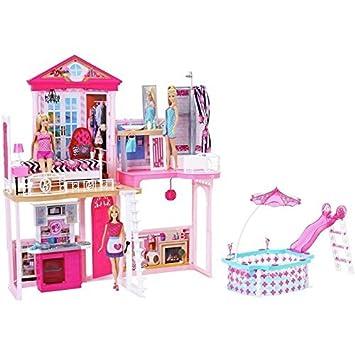 Barbie Haus 71 cm hoch 61 cm breit mit Möbel bestehend aus ...