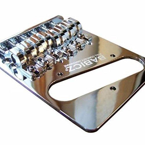 Babicz FCHTELECHP  Full Contact Hardware, Telecaster Bridge, Chrome (Squier Standard Tele)
