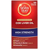 Seven Seas Omega-3 Fish Oil Plus Cod Liver Oil High Strength 120 One-A-Day Capsules