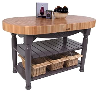 Amazon.com: John Boos American Heritage Harvest Kitchen Island ...