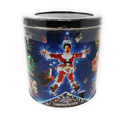 National Lampoons Christmas Vacation Popcorn Tin Butter Caramel Cheddar Cheddar Cheese and Butter in Specialty Popcorn Container - 24 Oz (Butter Caramel Cheddar,Cheddar Cheese,Butter)