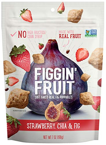 Figgin' Fruit Snacks (Fig, Strawberry & Chia, 7oz, Pack of -