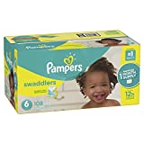 Pampers Swaddlers Disposable Baby Diapers Size 6, 108 Count, ONE MONTH SUPPLY
