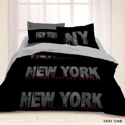 Housse De Couette 220x240 2 Taies Black New York Les Douces