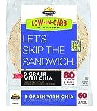 TUMAROS Low Carb 9 Grain with Chia 8 ct Tortillas Wraps 11.2 oz each - KSA Kosher Pareve Tumaro's (7)