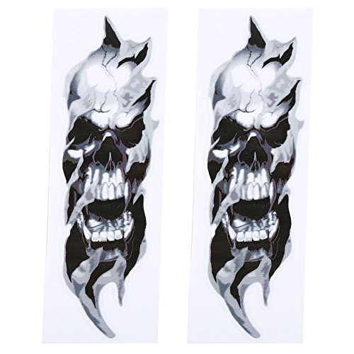 Anauto 2 Pcs FORK SKULLS Stickers For Harley-Davidson Sportster Softail Dyna Electra Street Glide (Davidson Harley Fork)