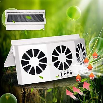 Solar Powered Car Cooling Fan Cooler Auto Window Air Vent Exhaust Ventilation