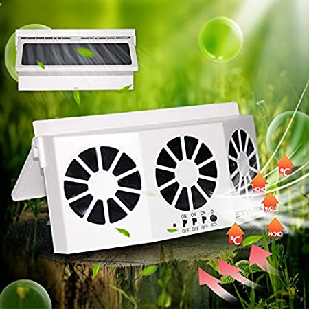 N//Z Sharous Exhaust Fan Vehicle Radiator Solar Powered Car Ventilator Auto Air Vent Fan Auto Ventilator System for Car General Types of Cars