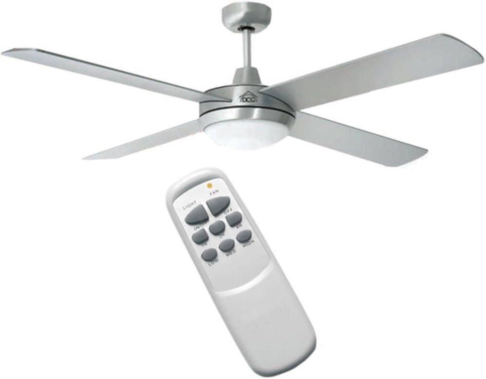 DCG Ventilador de techo con 4 palas y mando a distancia: Amazon.es ...