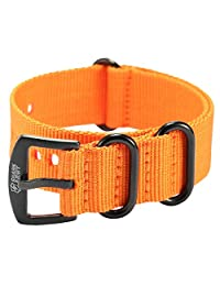 Shark Army Orange Nylon Sport Military Ourdoor Watchband Watch Strap Band WTL069