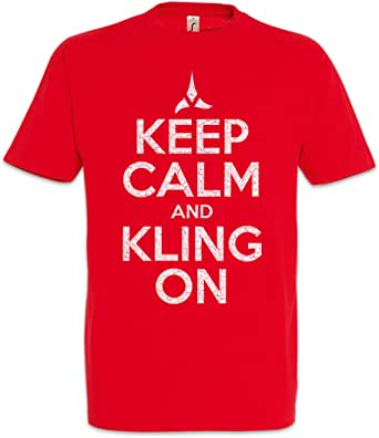 Urban Backwoods Keep Calm and Kling On Camiseta De Hombre T-Shirt: Amazon.es: Ropa y accesorios