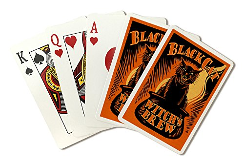 Halloween - Black Cat Witch's Brew (Playing Card Deck - 52 Card Poker Size with -
