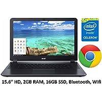 Acer Gray 15.6-inch Premium Chromebook PC (2016 ), Intel Celeron N2830 Dual-Core Processor, 2GB Memory, 16GB SSD, Bluetooth, HDMI, Wifi, up to 8-hr Battery Life, Chrome OS