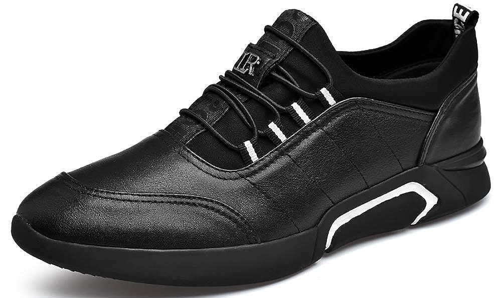 Mengxx Mä nner Slip In Oxford Schuhe, 6 cm Erhö hte Klassische Mä nner Lederschuhe Schwarz Business Casual Schuhe Uniform Kleid Schuhe