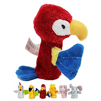 Kid's Plush Animal Finger Puppet: Red Parrot - By Ganz: Office Products