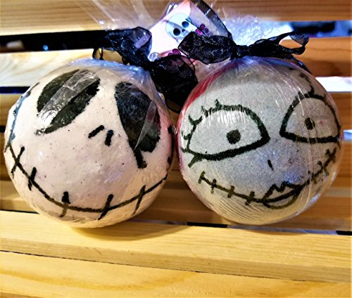 Jack and Sally Bath Bomb Nightmare Before Christmas Large Bath Bomb by Lily's Bath and Body
