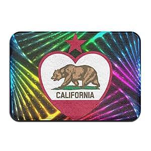 California bandera de cerveza y Star corazón vintage antideslizante alfombra de baño Alfombrillas 4060cm