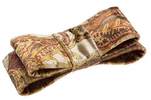- L. Erickson USA Wide Couture Bow Barrette - Paisley Velvet Topaz