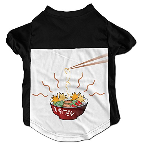 Ramen Chopstick Funny Customized Printed Puppy T Shirt For Pet (Outdoor Pasta Alfredo)
