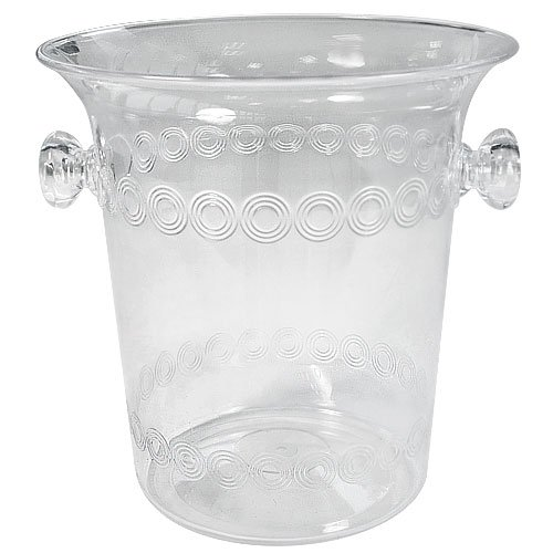 Ice Bucket, 4-Quart, Clear Plastic Ice Bucket For Wine or Champagne Bottles