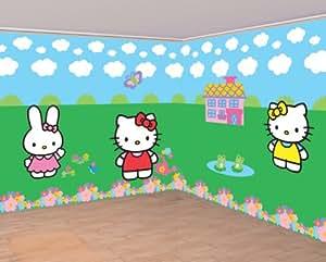 Amscan - Rollos de papel de pared de Hello Kitty™