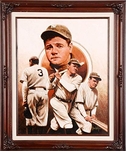 (Babe Ruth Canvas Giclee Display by Leon Wolf)