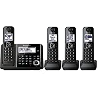 Panasonic KX-TGF344B Expandable Cordless Phone with Answering Machine - 4 Handsets (Certified Refurbished)