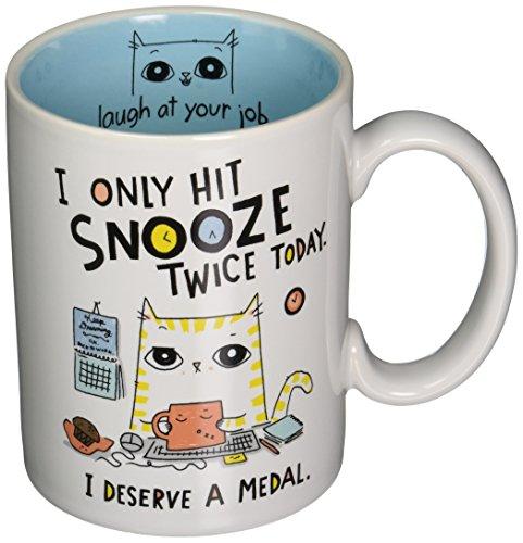 Enesco Cats At Work Snooze Twice Mug, Multicolor