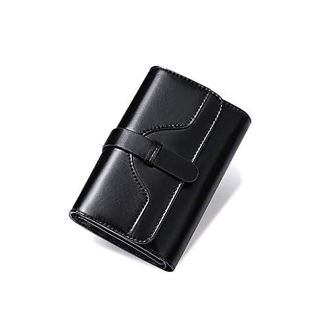 Billetero RFID para mujer Señoras Monedero de cuero Retro ...