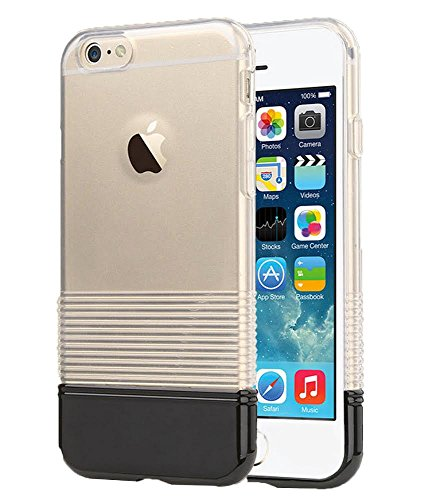 iPhone 6 PLUS Case, Clear Candy Pantone Thin Protective Case for Apple iPhone 6 PLUS (Black)