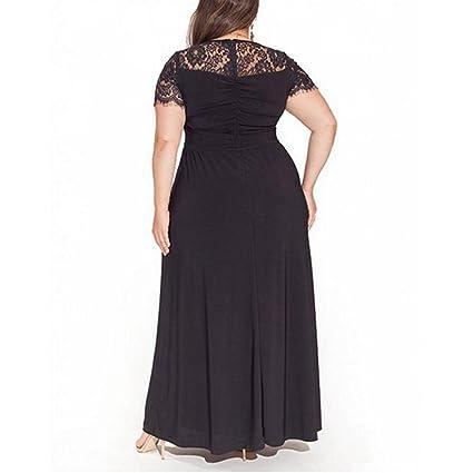 FeelinGirl Mujer Vestido de Noche Encaje Largo Traje Talla Extra Grande: Amazon.es: Ropa y accesorios
