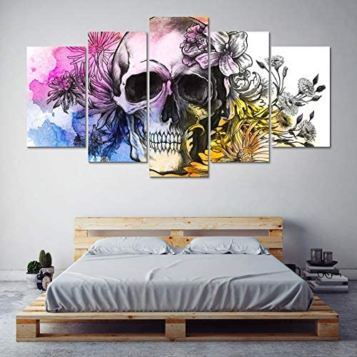 Acheter tableau peinture tete de mort online 16