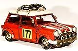 EliteTreasures Red Retro Metal Collectible Replica Mini Rally Car Model - Vintage Style Decorative 177 Rally Car - Metal Toy Car - Retro Mini Car Model - Shabby Chic Decor - Industrial Decor Figurine