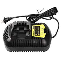 Enegitech 12 Volt MAX and 20 Volt MAX Lithium Ion Battery Charger for Dewalt DCB101,DCB105,DCB107,DCB112,DCB115,100-240V with US Plug