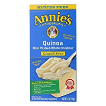 Annie's Homegrown Quinoa Rice Pasta & White Cheddar, 6-ounce Boxes (Pack of 12)