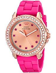 Juicy Couture Womens 1901190 Pedigree Rose Gold-Tone Watch with Silicone Strap