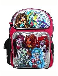 Full Size Black and Silver Monster High Backpack - Monster High Bookbag