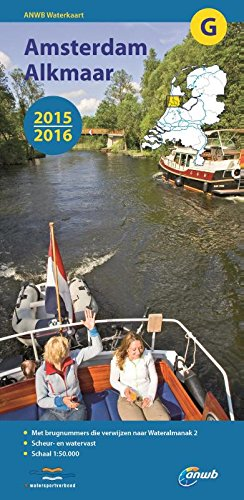 ANWB Waterkaart Amsterdam-Alkmaar 2015/2016 (ANWB waterkaart (G))