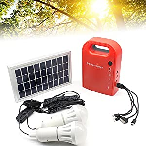 51RqJ1KCu4L. SS300  - TFCFL 12V Home Outdoor Lighting DC Solar Panels Charging Generator Portable Power Generation System 6000K-6500K with 4 in 1 USB Charging Cable