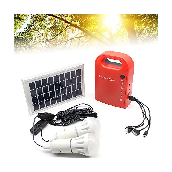 51RqJ1KCu4L. SS600  - TFCFL 12V Home Outdoor Lighting DC Solar Panels Charging Generator Portable Power Generation System 6000K-6500K with 4 in 1 USB Charging Cable