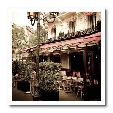 Metro Office Table - 3dRose Danita Delimont - France - Le Metro Restaurant, Left Bank, Paris, France - 8x8 Iron on Heat Transfer for White Material (ht_257633_1)
