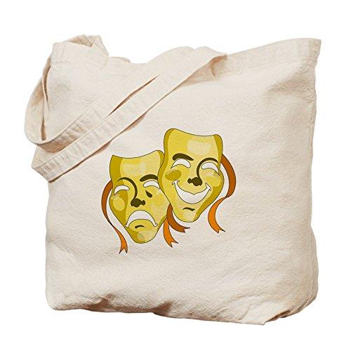 CafePress–Máscaras De Teatro oro–Gamuza de bolsa de lona bolsa, bolsa de la compra