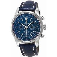 Breitling Transocean Chronograph Unitime Men's Watch (Blue)